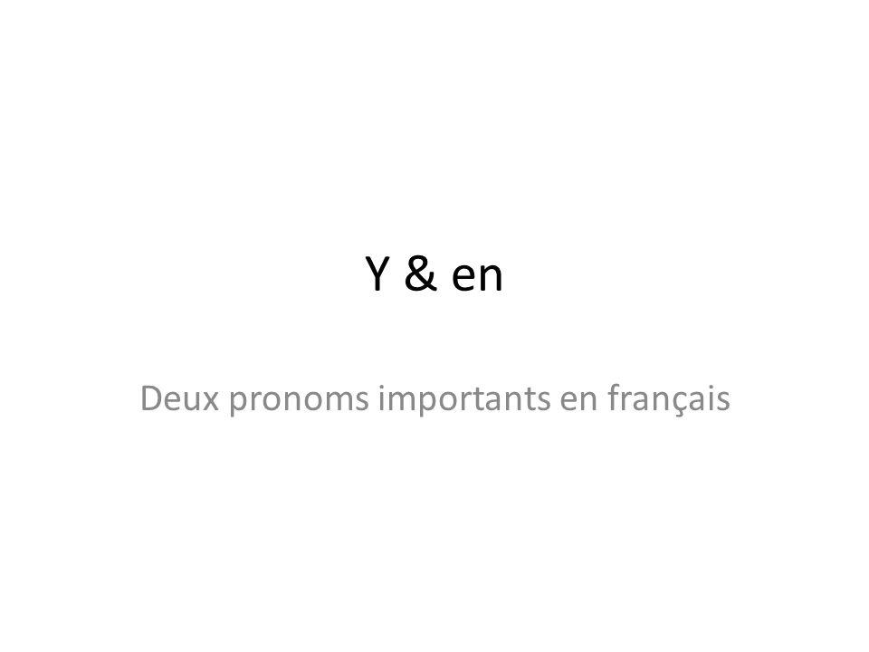 Y & en Deux pronoms importants en français