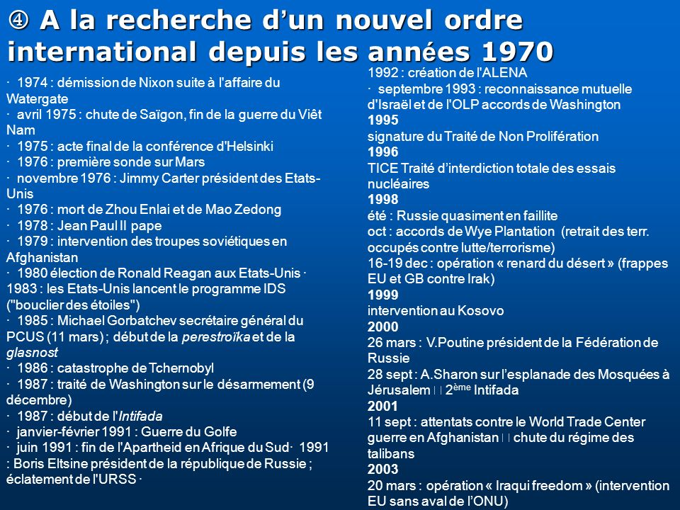 A la recherche d un nouvel ordre international depuis les ann é es 1970 A la recherche d un nouvel ordre international depuis les ann é es 1970 · 1974