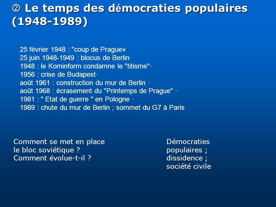 Le temps des d é mocraties populaires (1948-1989) Le temps des d é mocraties populaires (1948-1989) 25 février 1948 :