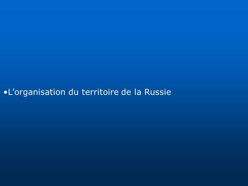 Lorganisation du territoire de la Russie