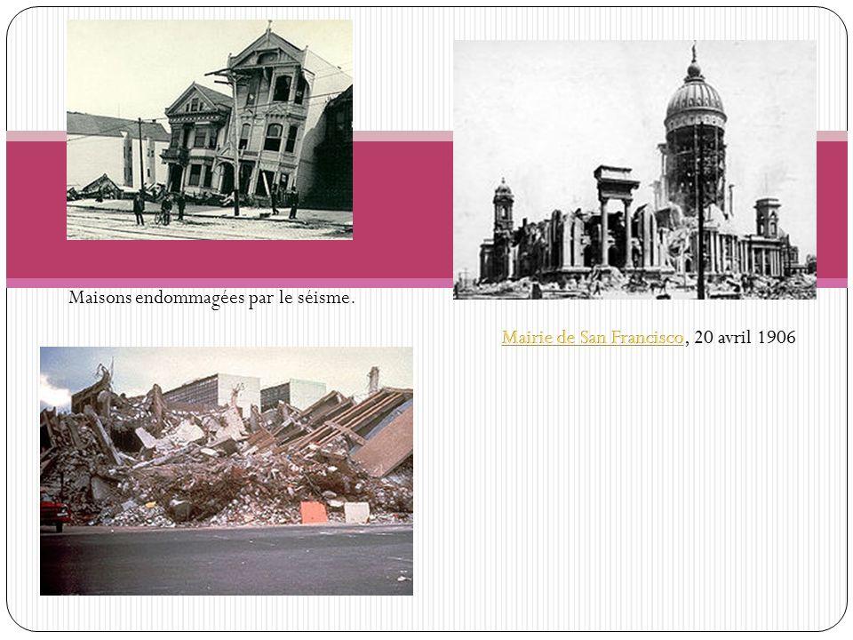 Maisons endommagées par le séisme.