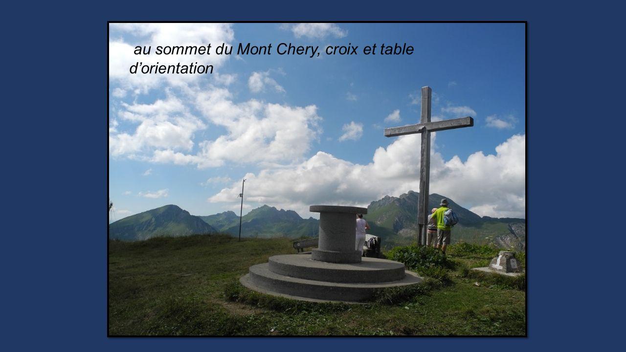 au sommet du Mont Chery, croix et table dorientation