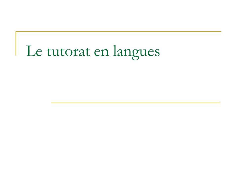 Le tutorat en langues