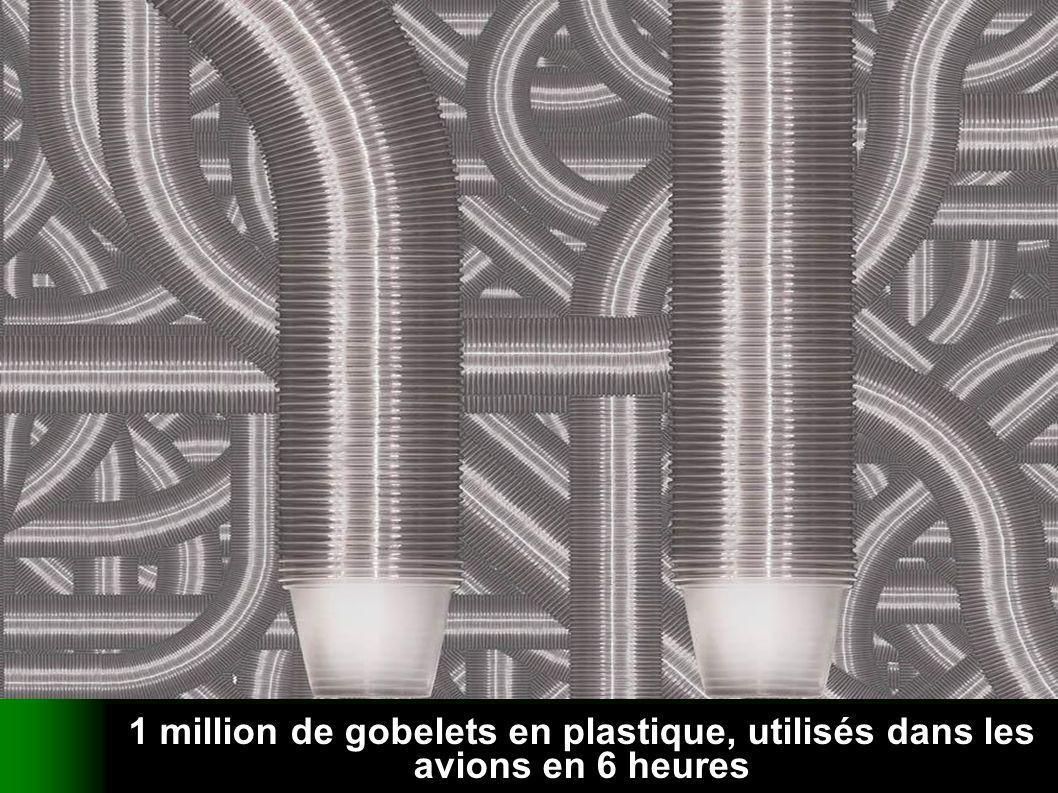 verteilt durch www.funmail2u.dewww.funmail2u.de 1 million de gobelets en plastique, utilisés dans les avions en 6 heures