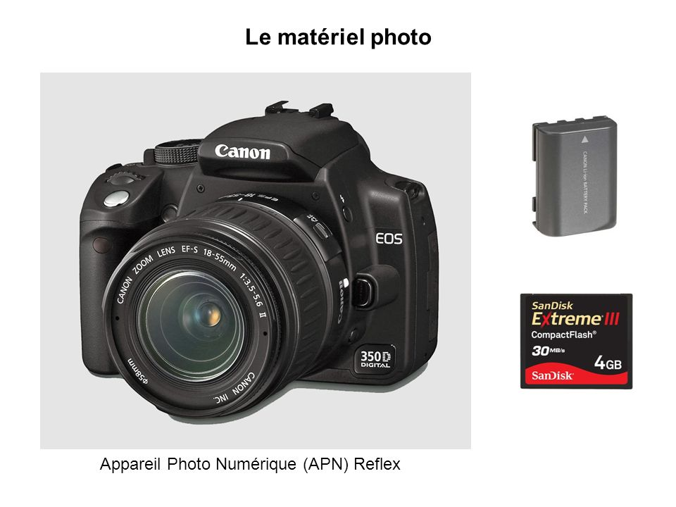 Le matériel photo Appareil Photo Numérique (APN) Reflex
