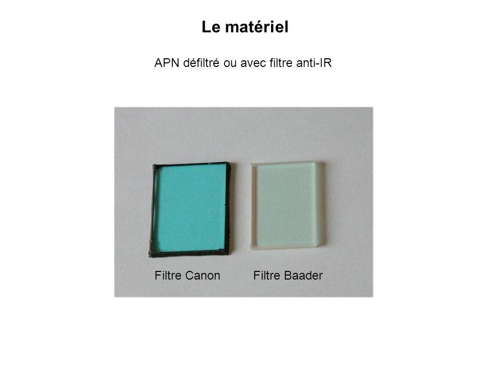 Le matériel APN défiltré ou avec filtre anti-IR Filtre BaaderFiltre Canon