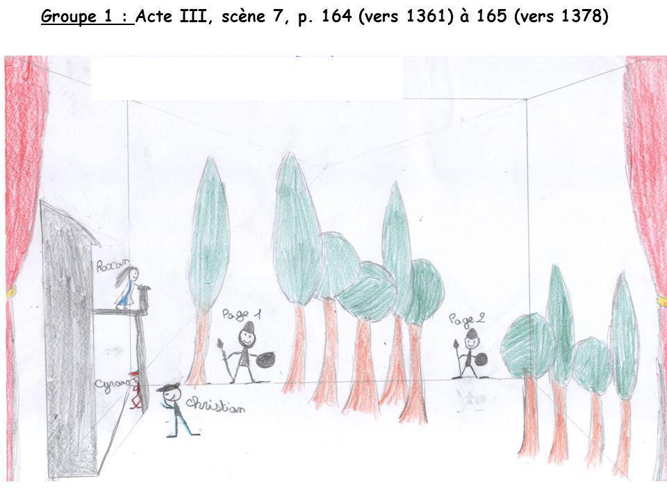 Groupe 1 : Acte III, scène 7, p. 164 (vers 1361) à 165 (vers 1378)