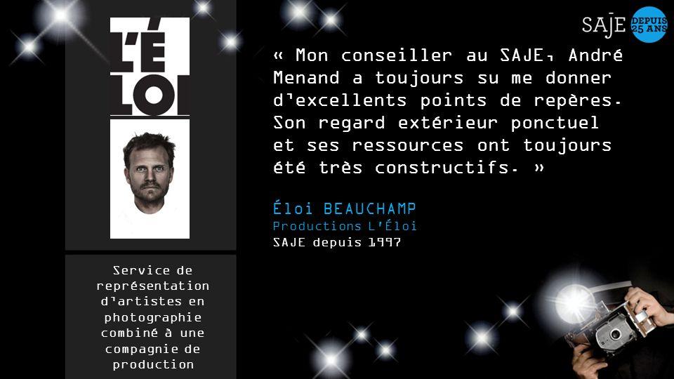 « Mon conseiller au SAJE, André Menand a toujours su me donner dexcellents points de repères. Son regard extérieur ponctuel et ses ressources ont touj