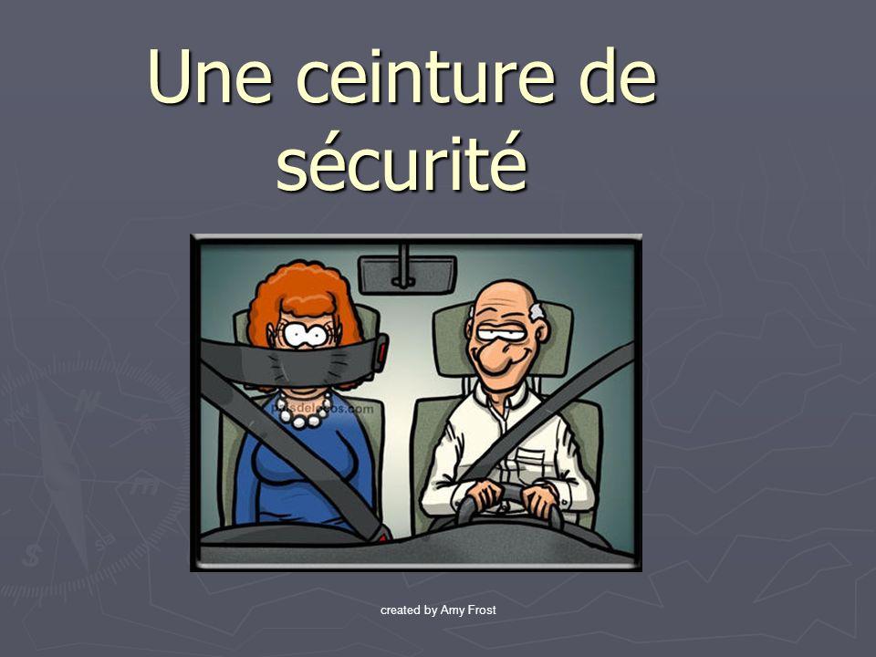 Une ceinture de sécurité created by Amy Frost