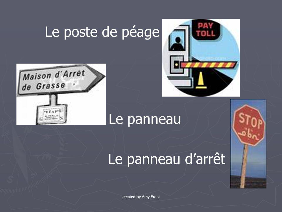 Le poste de péage Le panneau Le panneau darrêt created by Amy Frost