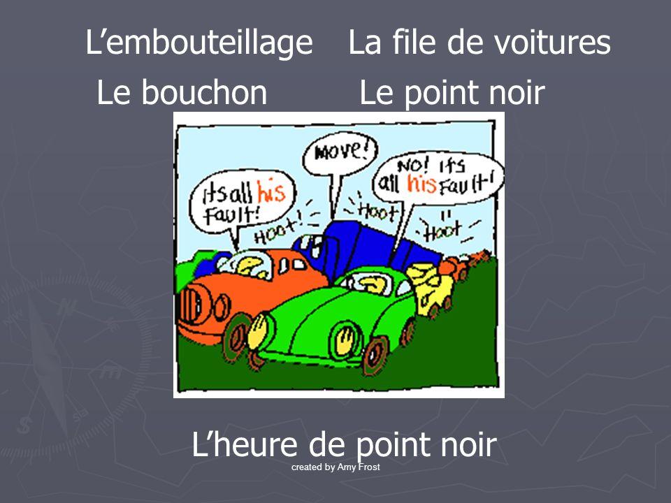 Lembouteillage Le bouchon La file de voitures Le point noir Lheure de point noir created by Amy Frost