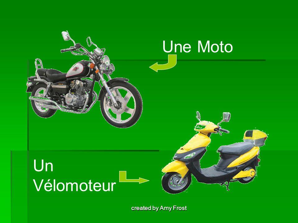 Une Moto Un Vélomoteur created by Amy Frost
