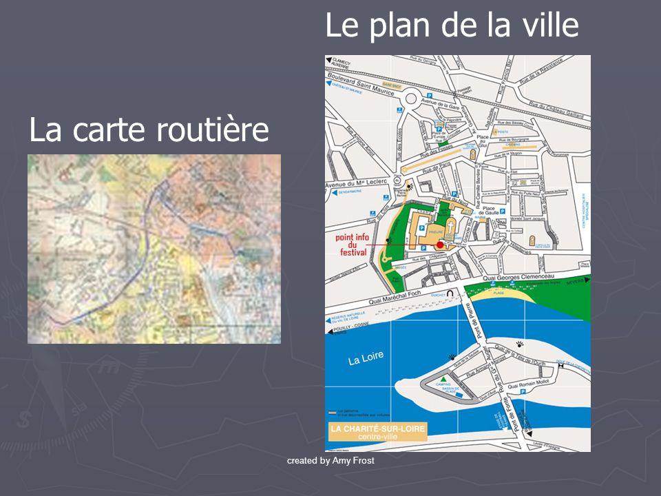 Le plan de la ville La carte routière created by Amy Frost