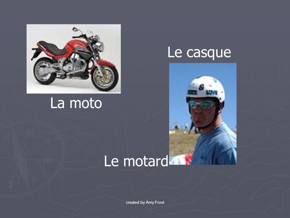 Le casque La moto Le motard created by Amy Frost