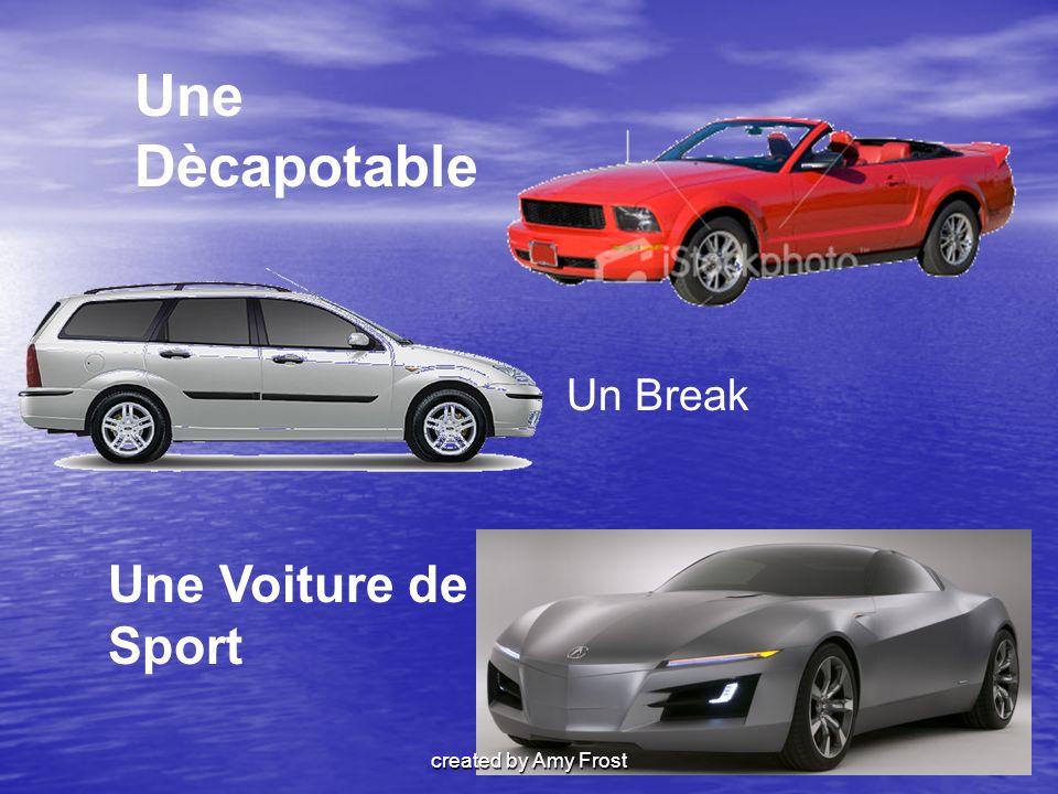 Une Voiture de Sport Un Break Une Dècapotable created by Amy Frost