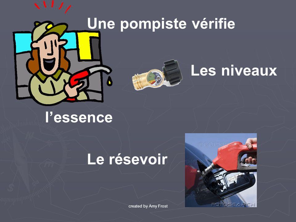 lessence Une pompiste v érifie Le résevoir Les niveaux created by Amy Frost