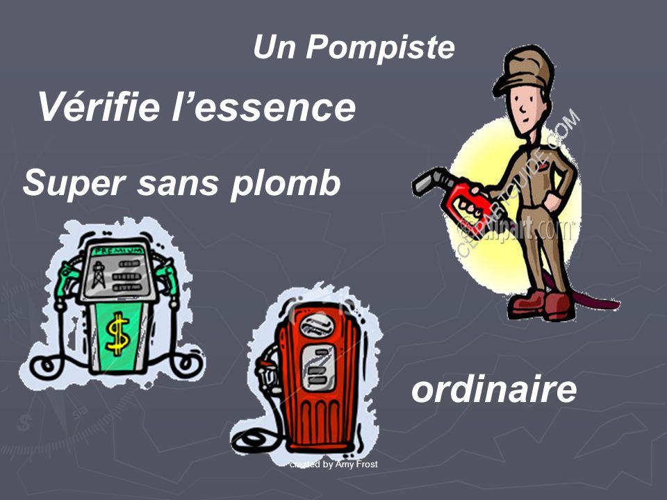 Super sans plomb ordinaire Vérifie lessence Un Pompiste created by Amy Frost