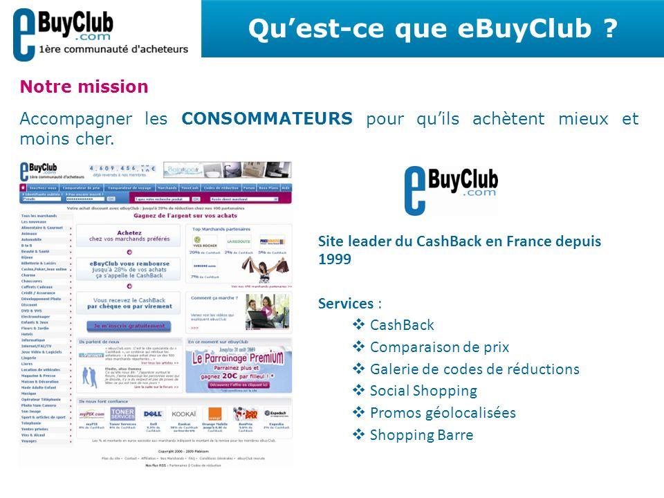 Notre mission Accompagner les CONSOMMATEURS pour quils achètent mieux et moins cher. Site leader du CashBack en France depuis 1999 Services : CashBack