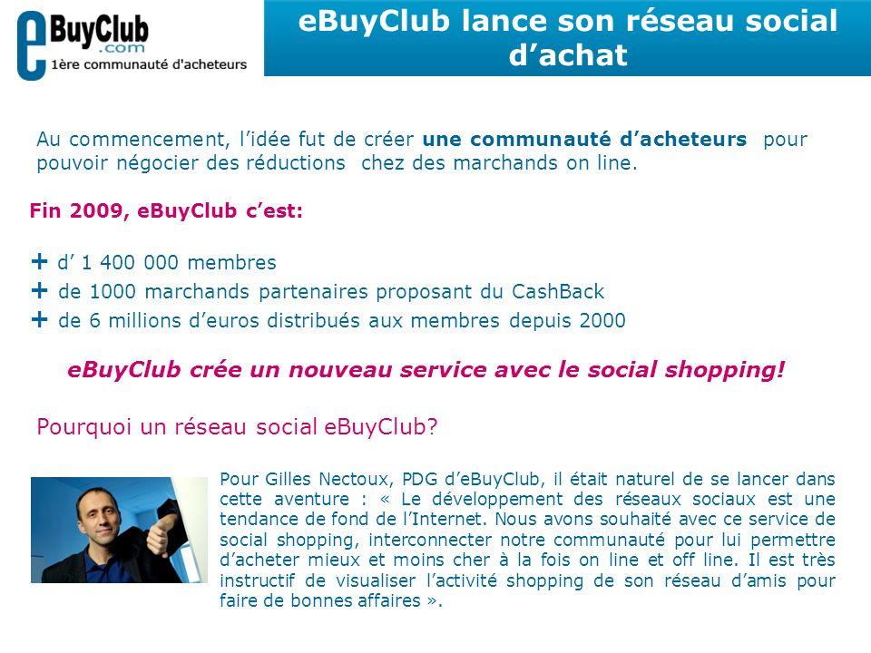 Pour Gilles Nectoux, PDG deBuyClub, il était naturel de se lancer dans cette aventure : « Le développement des réseaux sociaux est une tendance de fon