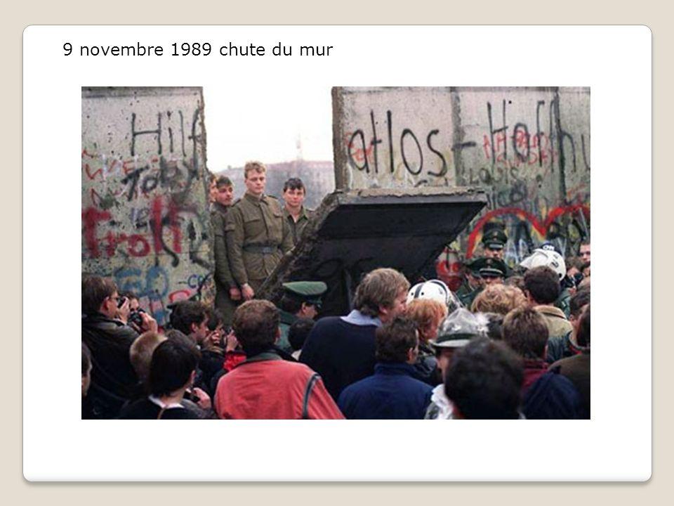 9 novembre 1989 chute du mur