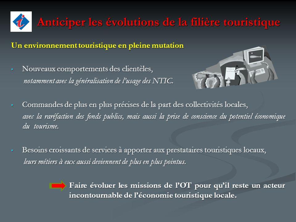 Anticiper les évolutions de la filière touristique Anticiper les évolutions de la filière touristique Un environnement touristique en pleine mutation
