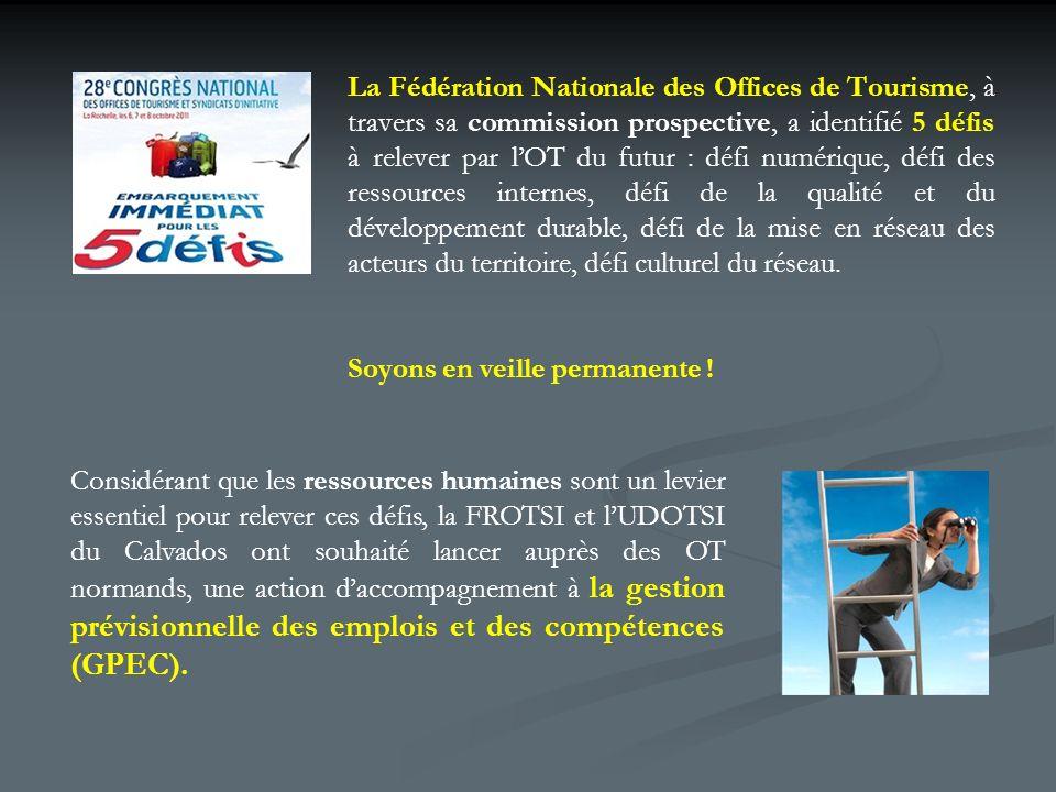 La Fédération Nationale des Offices de Tourisme, à travers sa commission prospective, a identifié 5 défis à relever par lOT du futur : défi numérique, défi des ressources internes, défi de la qualité et du développement durable, défi de la mise en réseau des acteurs du territoire, défi culturel du réseau.