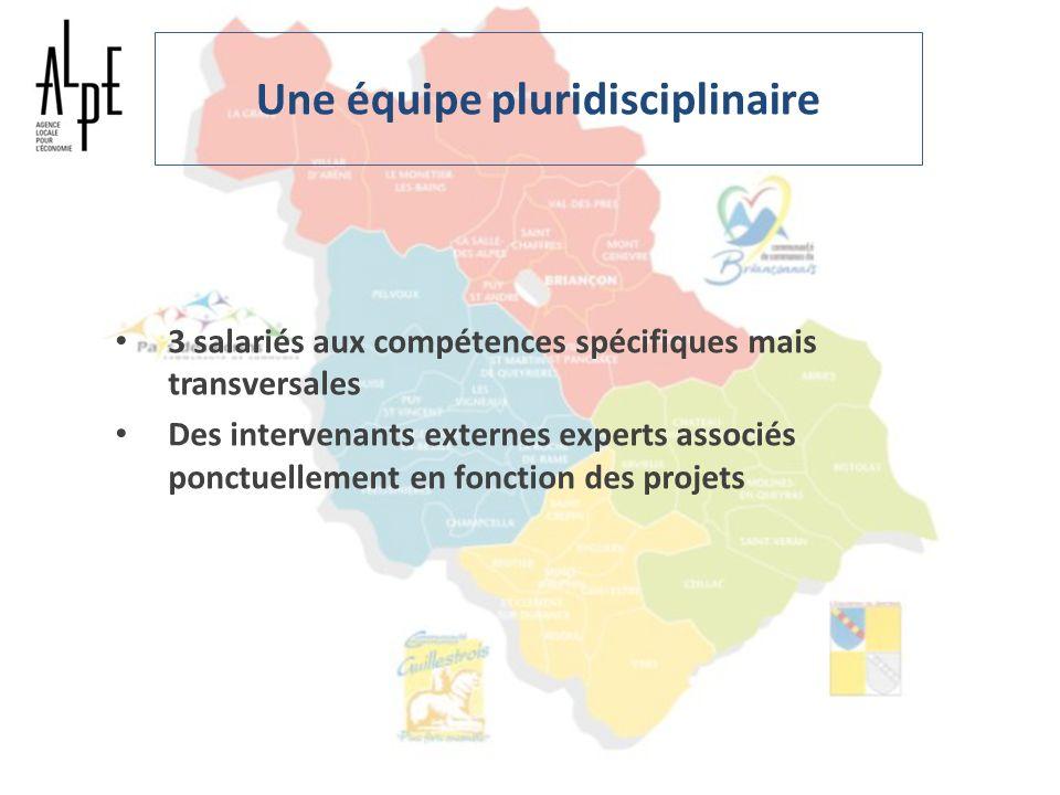 Une équipe pluridisciplinaire 3 salariés aux compétences spécifiques mais transversales Des intervenants externes experts associés ponctuellement en f