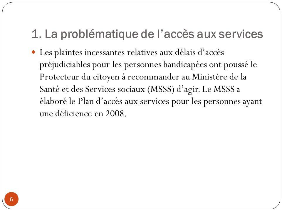 5.Évaluation de limplantation par le MSSS Les limites atteintes.