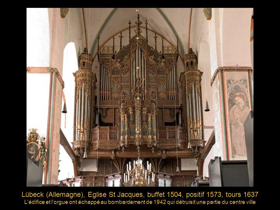 Brême (Allemagne), Eglise St-Martin, 1619, buffet de Hermann Wolff fin du style renaissance, début du baroque