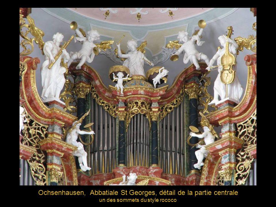 Ochsenhausen (Allemagne), Abbatiale St-Georges, 1728 orgue de Joseph Gabler, buffet de Franz Erb