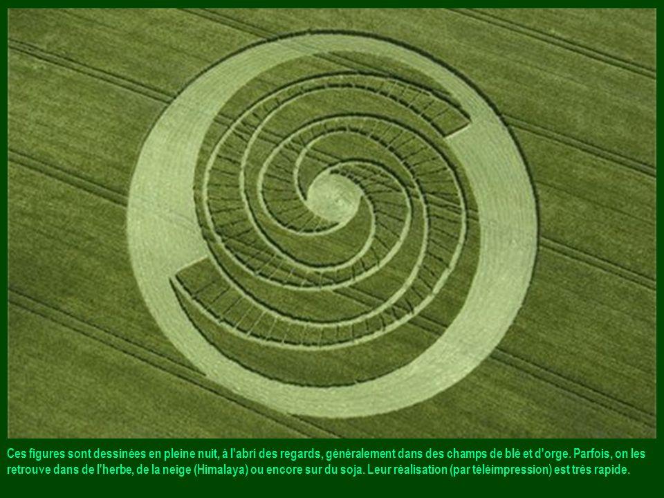 Agroglyphes ou Ce rcles de culture (anglais: « crop circles ») : Aussi improbables que fascinants. Canada, Etats-Unis, Hollande, France, Angleterre...
