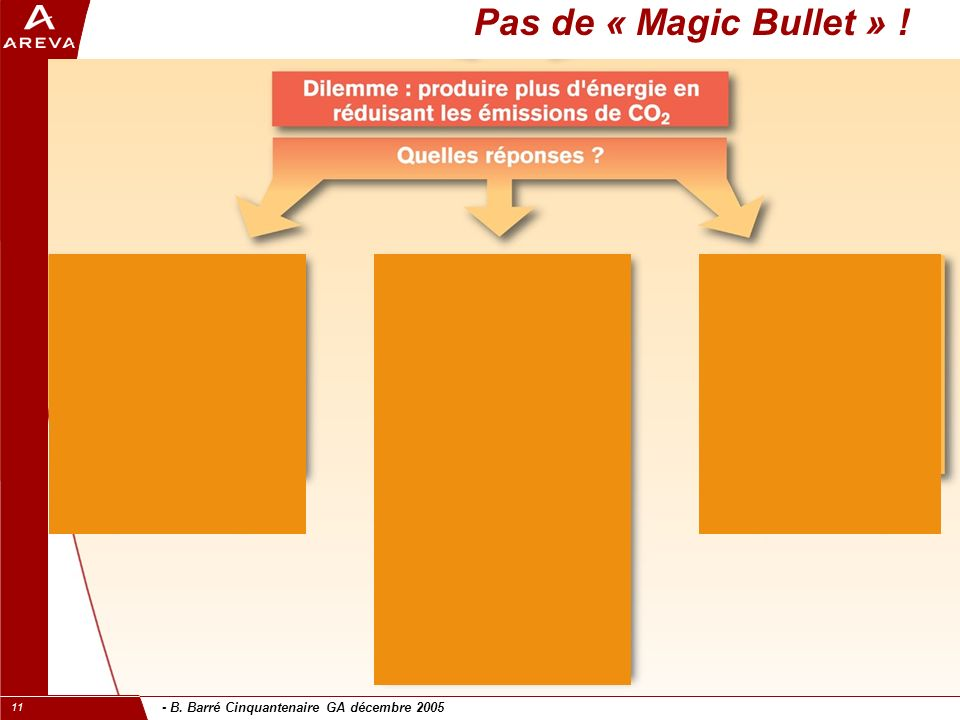 - B. Barré Cinquantenaire GA décembre 2005 11 Pas de « Magic Bullet » !