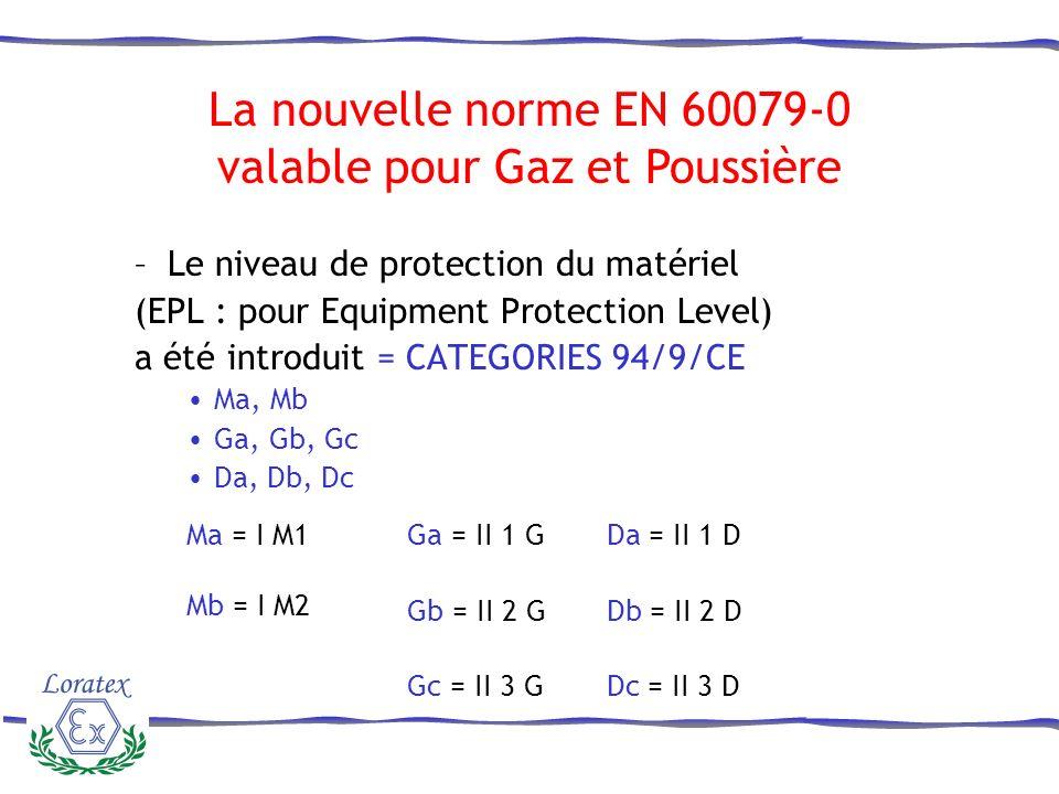 –Exemple de marquage La nouvelle norme EN 60079-0
