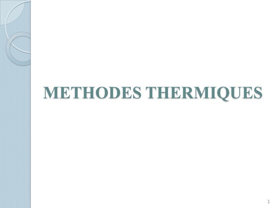 METHODES THERMIQUES 1