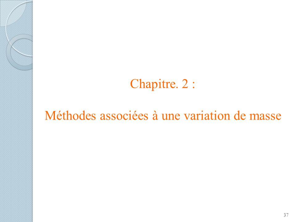 Chapitre. 2 : Méthodes associées à une variation de masse 37