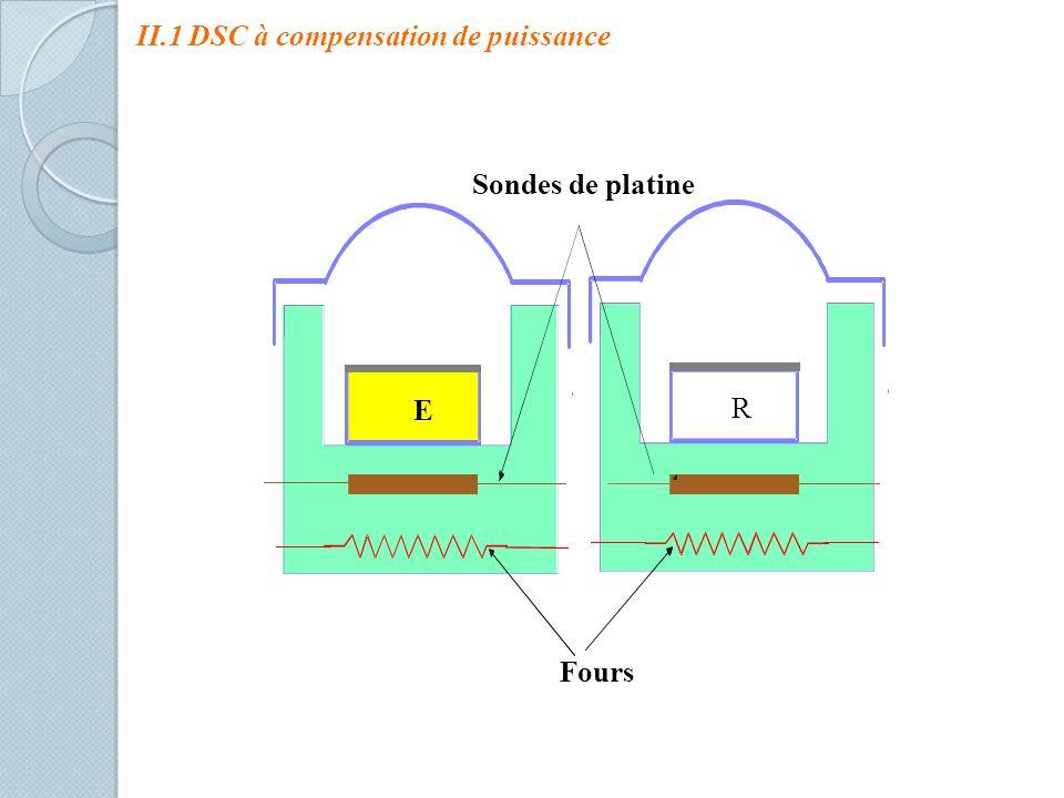 Sondes de platine E R Fours II.1 DSC à compensation de puissance