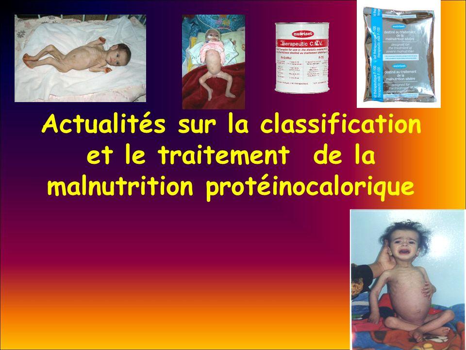 Actualités sur la classification et le traitement de la malnutrition protéinocalorique