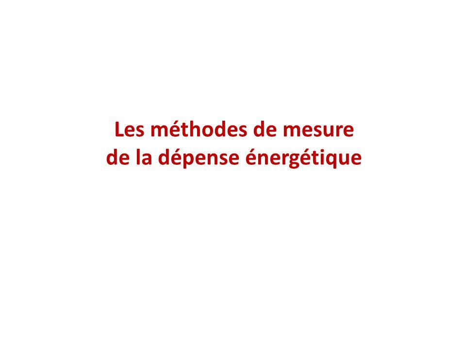 Les méthodes de mesure de la dépense énergétique