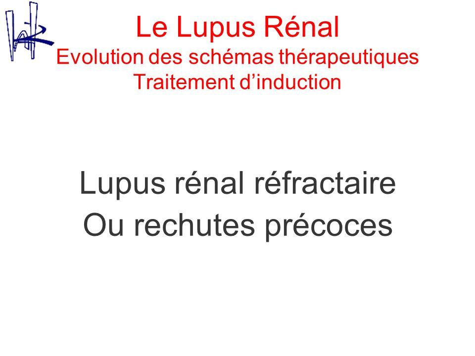 Le Lupus Rénal Evolution des schémas thérapeutiques Traitement dinduction Lupus rénal réfractaire Ou rechutes précoces