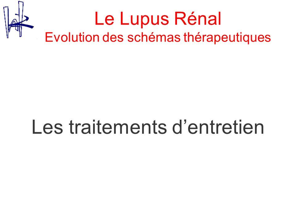 Le Lupus Rénal Evolution des schémas thérapeutiques Les traitements dentretien
