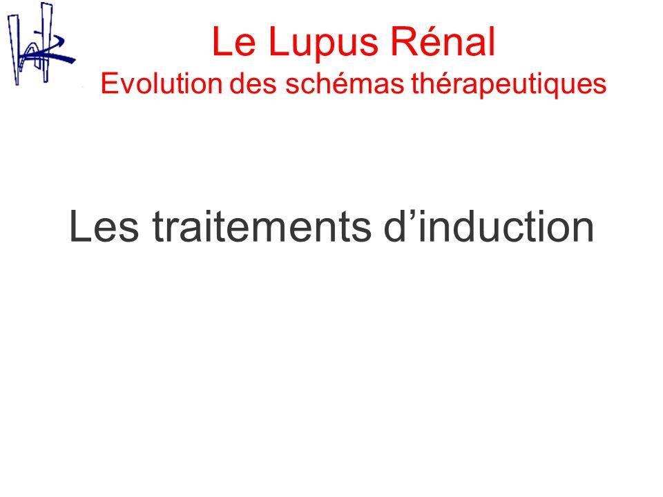 Le Lupus Rénal Evolution des schémas thérapeutiques Les traitements dinduction