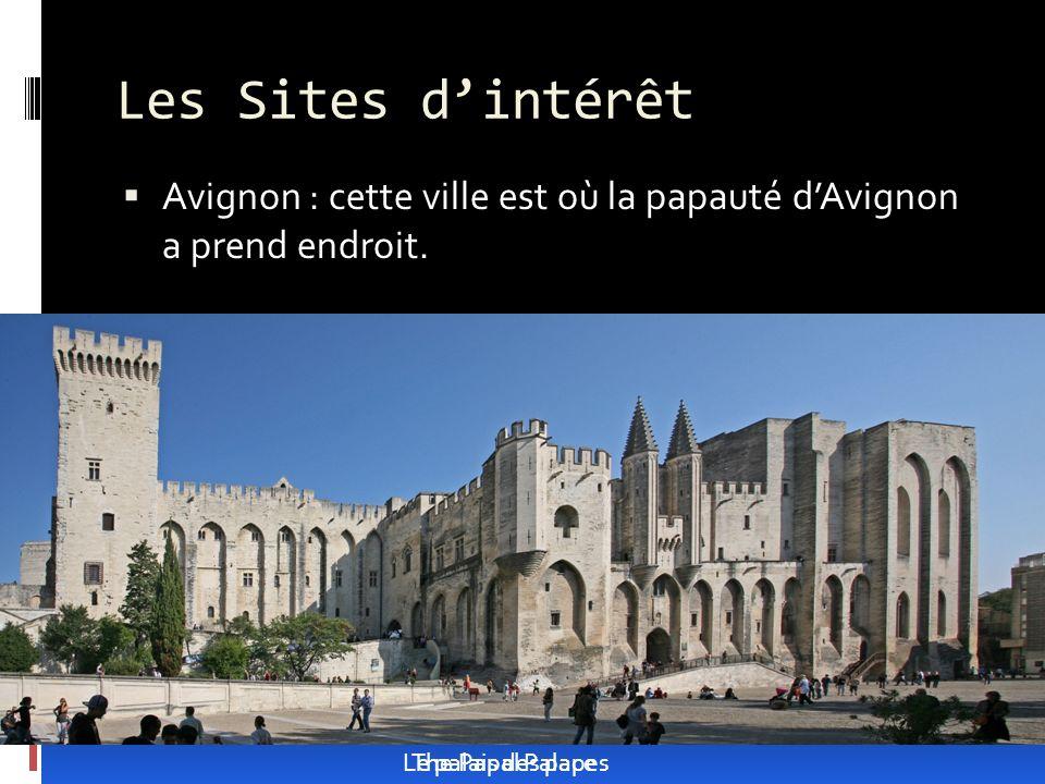 Les Sites dintérêt Avignon : cette ville est où la papauté dAvignon a prend endroit.