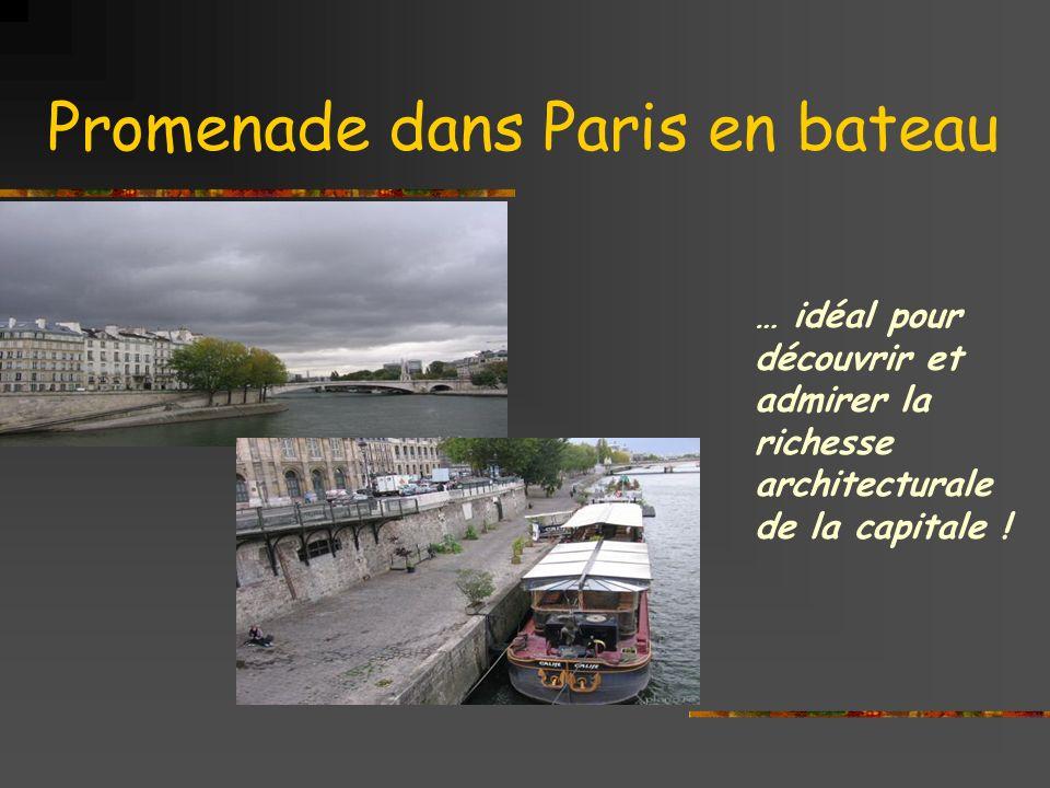 Promenade dans Paris en bateau … idéal pour découvrir et admirer la richesse architecturale de la capitale !