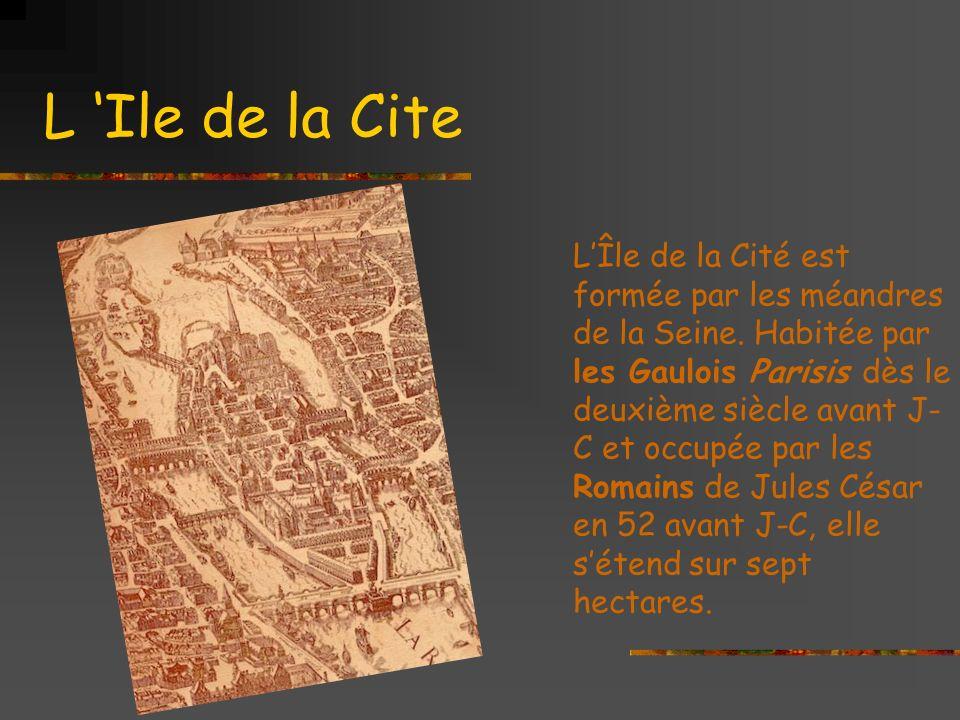 L Ile de la Cite LÎle de la Cité est formée par les méandres de la Seine.