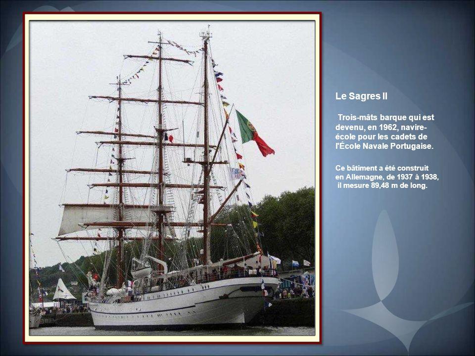 L'Atlantis. Trois-mâts goélette appartenant à la The Tallship, compagnie des Pays-Bas. Il mesure 57 m de long.