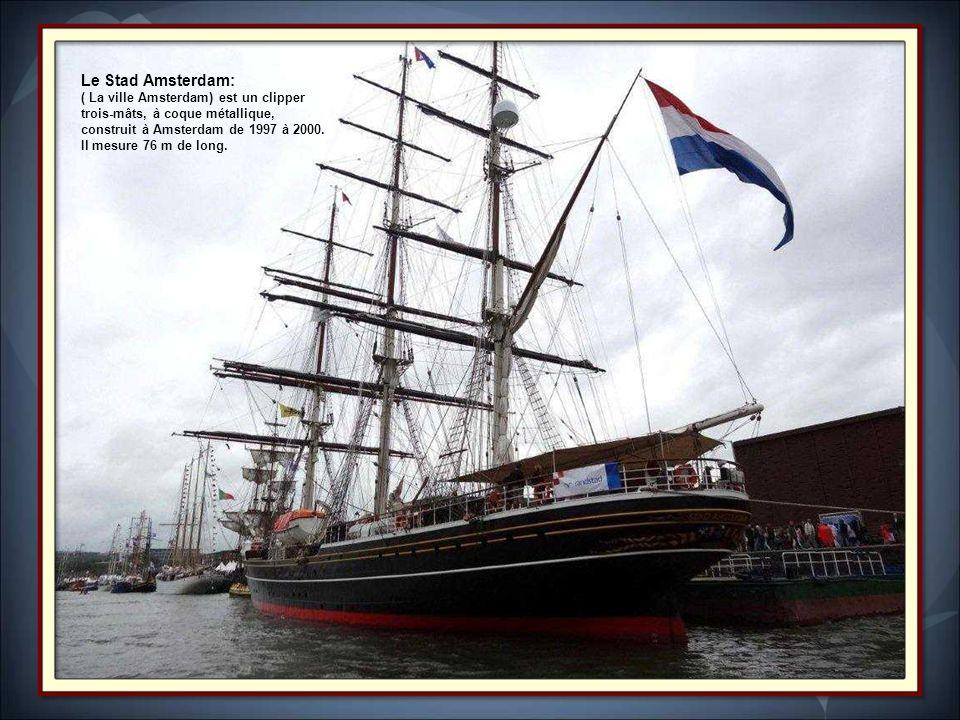 LArtémis.Trois-mâts barque de 59 m de long, il appartient à The Tallship Company des Pays-Bas.