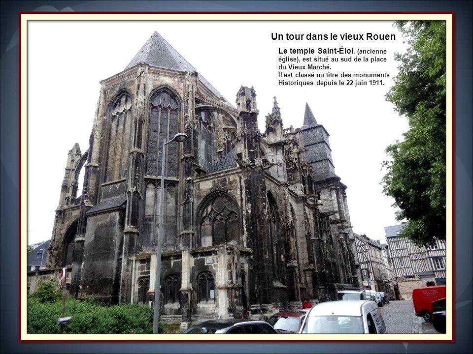 La flèche et les tours de Notre Dame de LAssomption de Rouen.