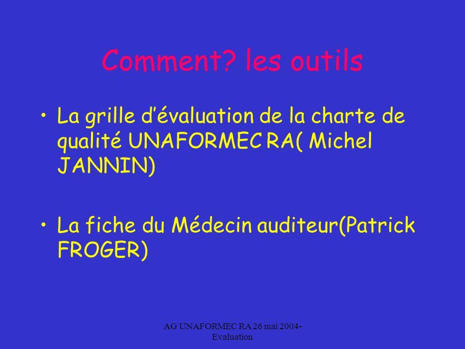 AG UNAFORMEC RA 26 mai 2004- Evaluation Comment.