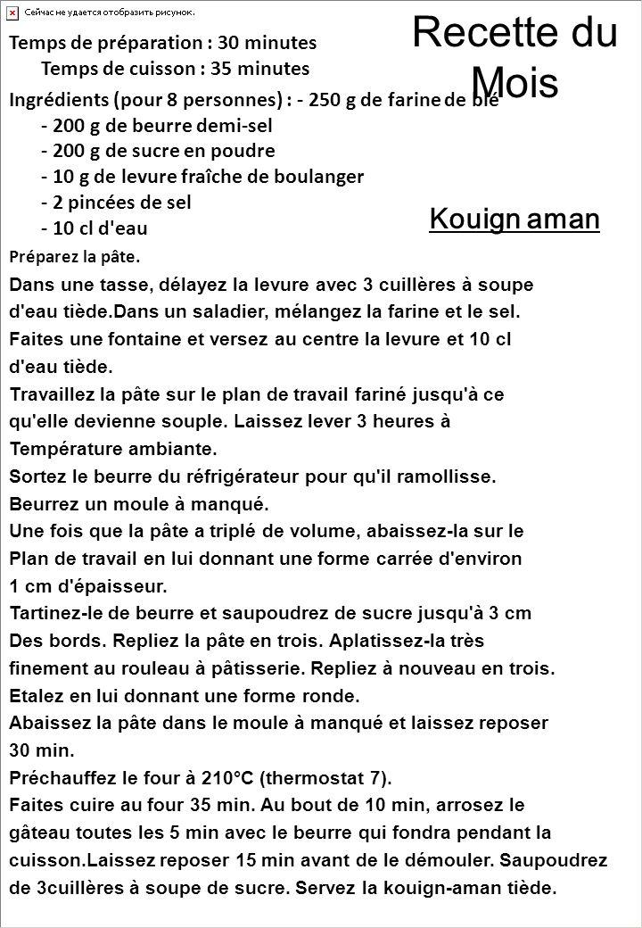 Le jeu du Mois (Solution dernière page) 1) Quel département porte un nom breton .