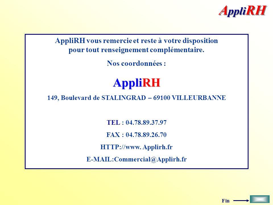 Fin AppliRH vous remercie et reste à votre disposition pour tout renseignement complémentaire.